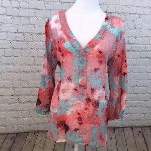 Grand & Greene Pastel Tie Dye Watercolor Blouse